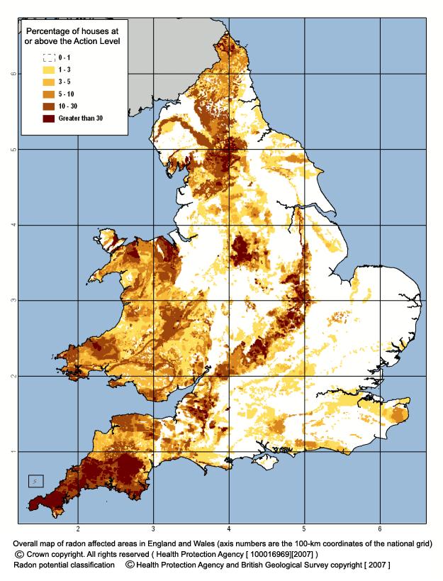 Uk Radon Gas Map