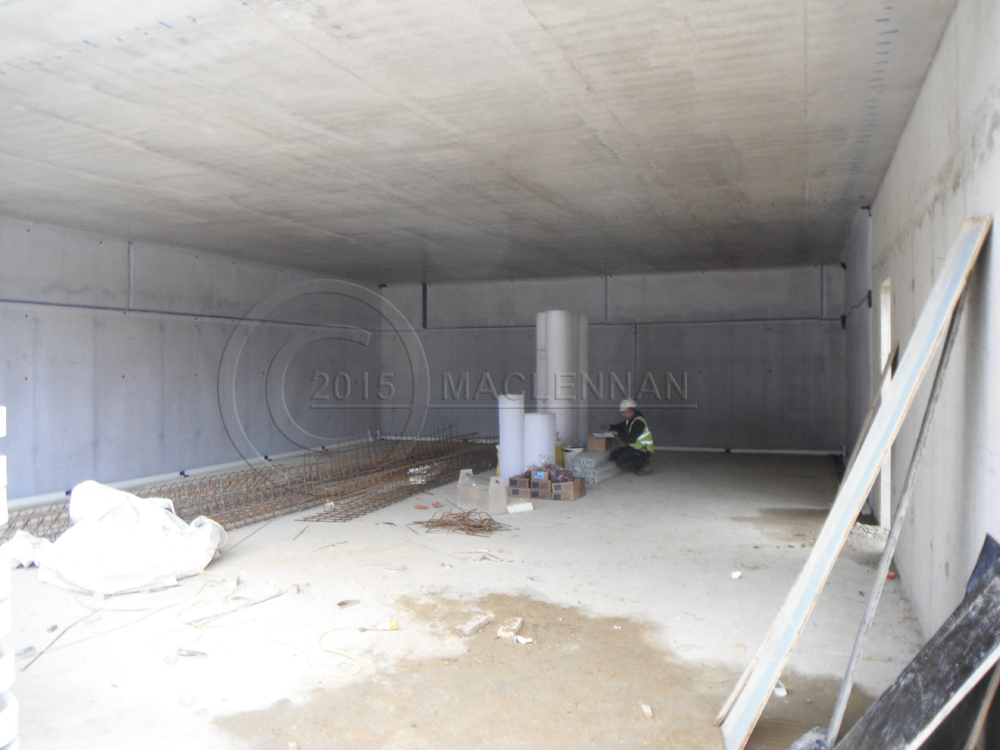 basement waterproofing and installation of the cavity drain