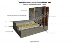 Typical Section through Base of Cavity Brick Wall