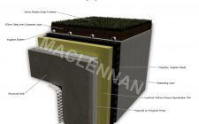 Deck Waterproofing Showing Irrigated Green Roof