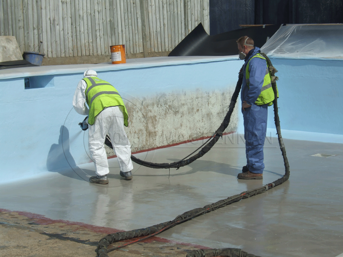 Polyprufe Spray Applied Swimming Pool Waterproof Lining