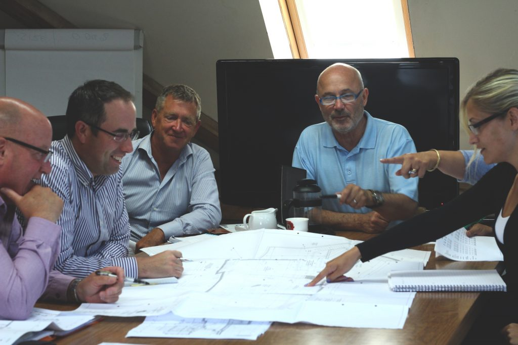 Design meeting at MacLennan headquarters