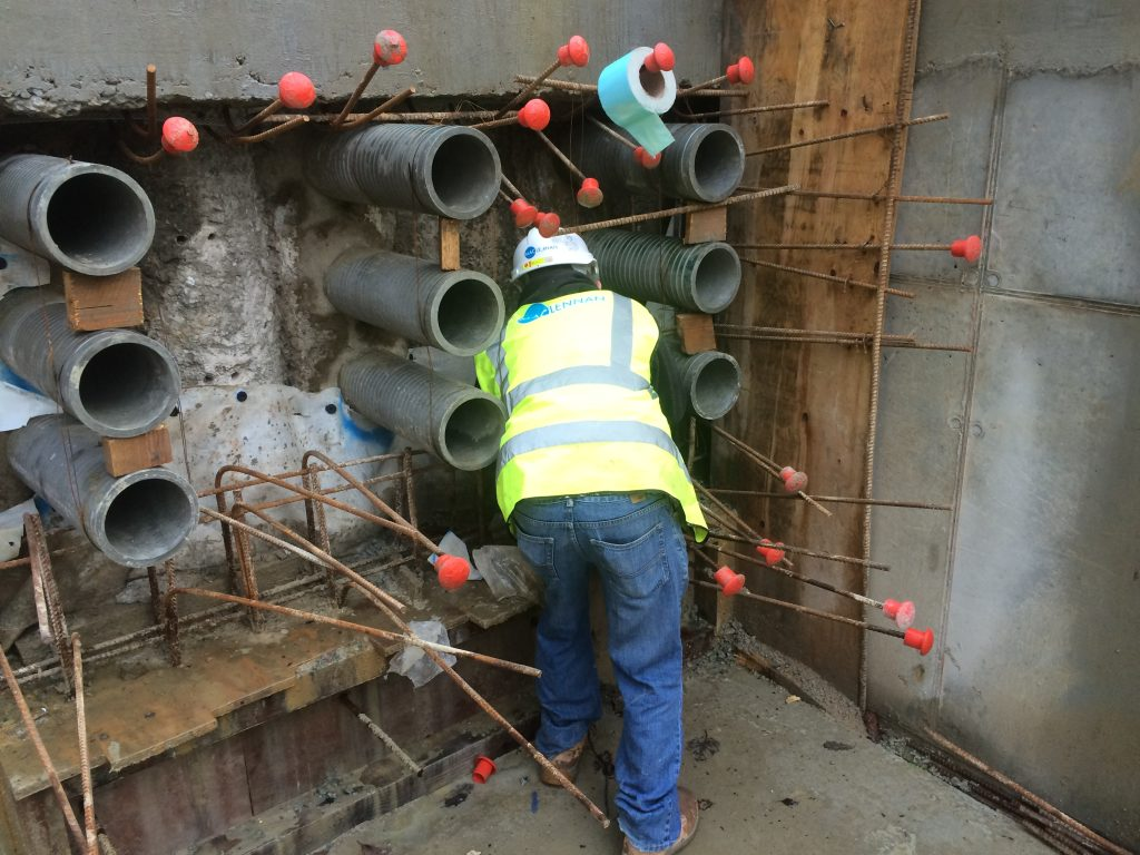 maclennan engineer sealing around external waterproofing service ducts