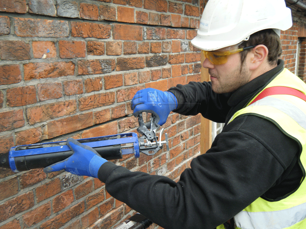 image showing maclennan engineer filling crack stictches wiltshire