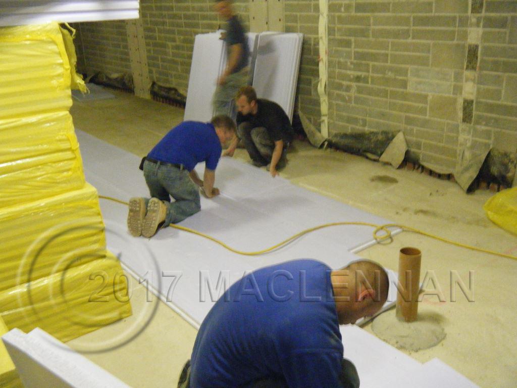 le poussin cavity drain basement waterproofing