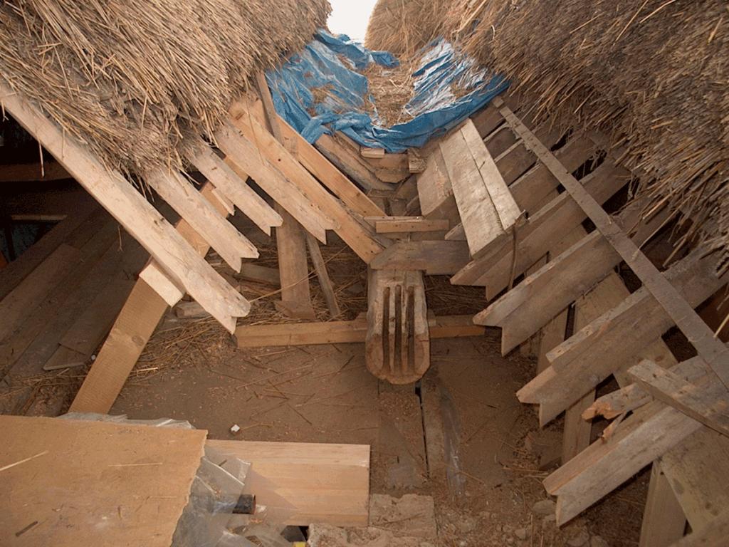 roman villa timber resin splice repair