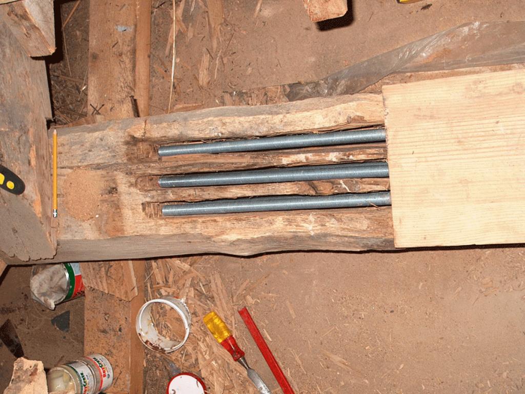view of timber resin repair roman villa