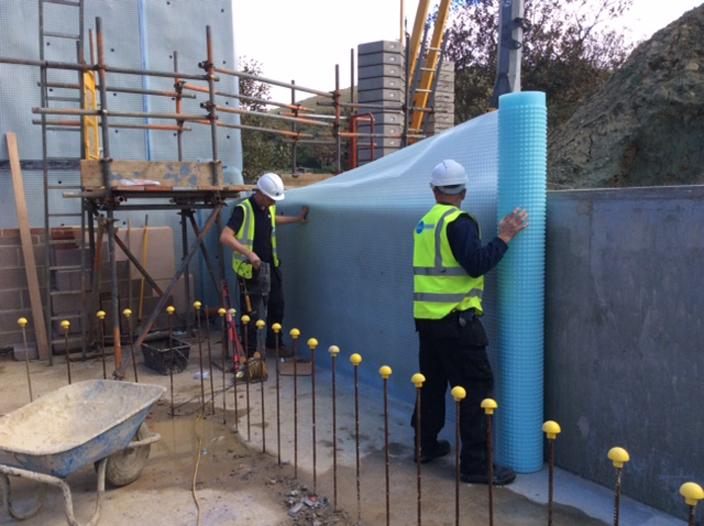 hambury bottom new build cavity drain membrane system