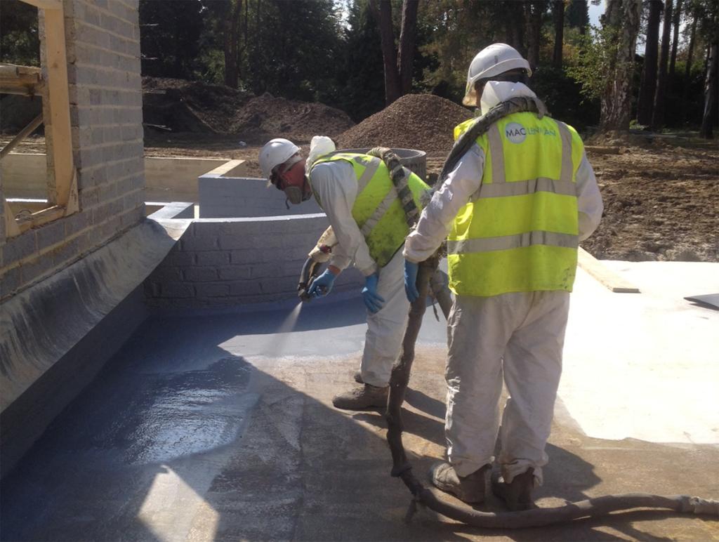 new build basement waterproofing villa oman surrey