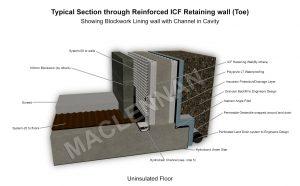 Base of ICF Retaining wall 1 WM