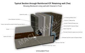 Base of ICF Retaining wall 2 WM