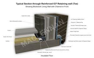 Base of ICF Retaining wall 5 WM