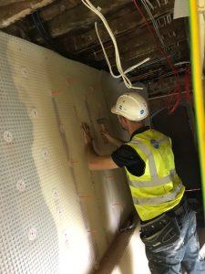 MacLennan technician installing Cavity membrane