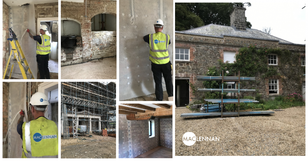 Grade I listed building waterproofed