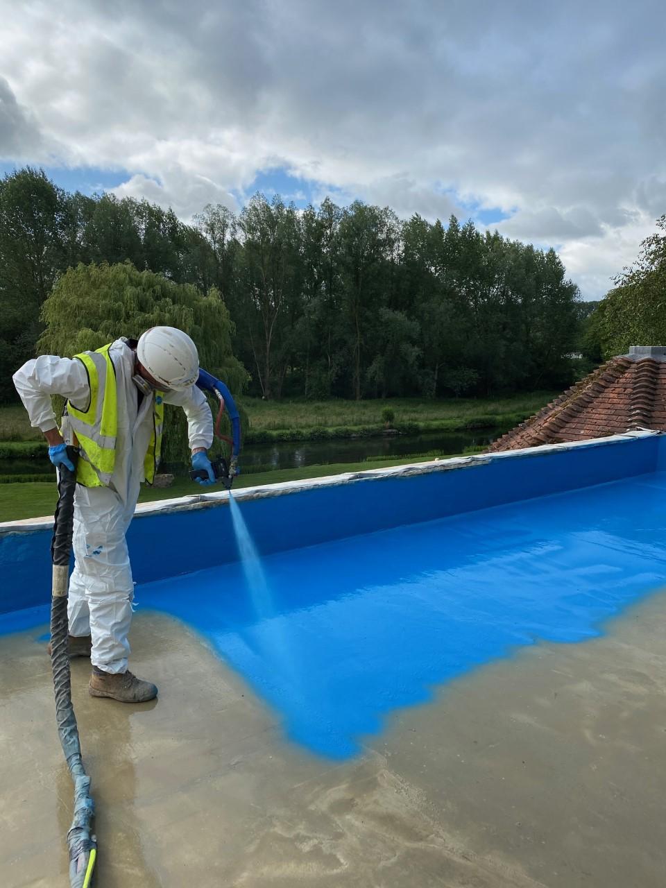 Deck waterproofing polyprufe