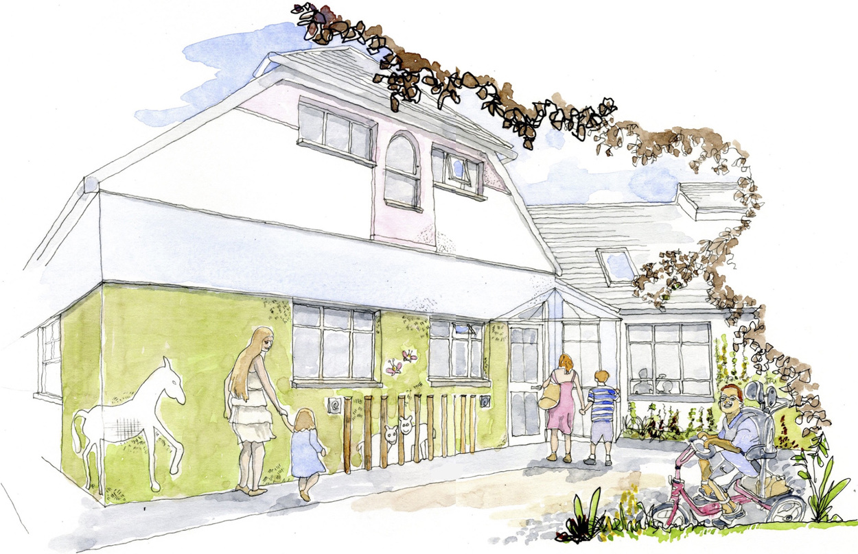 Artists rendering of Julia's House Hospice - by Hilldesign