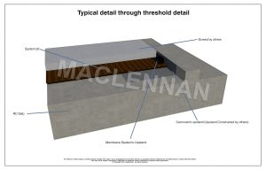 3D drawing Typical Threshold Detail