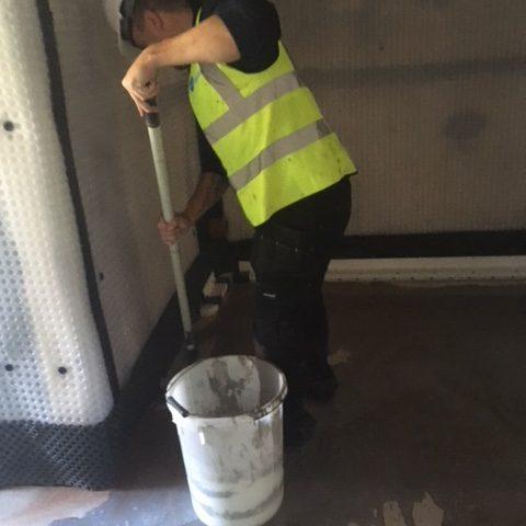 Basement conversion waterproofing