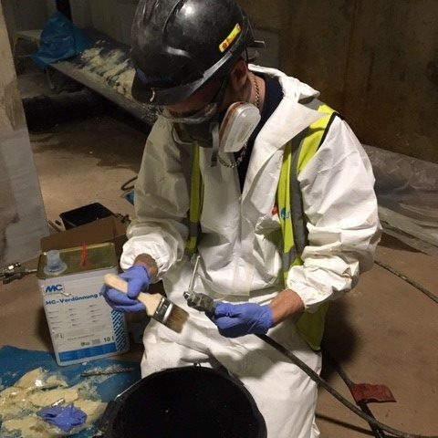 cleaning waterproofing equipment